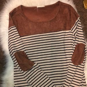 Altar'd State Elbow Patch Tunic XS